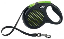 Inerces pavada suņiem - Flexi Design Dots Tape M 5m, green