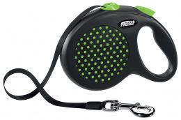 Inerces pavada suņiem - Flexi Design Dots Tape L 5m, green