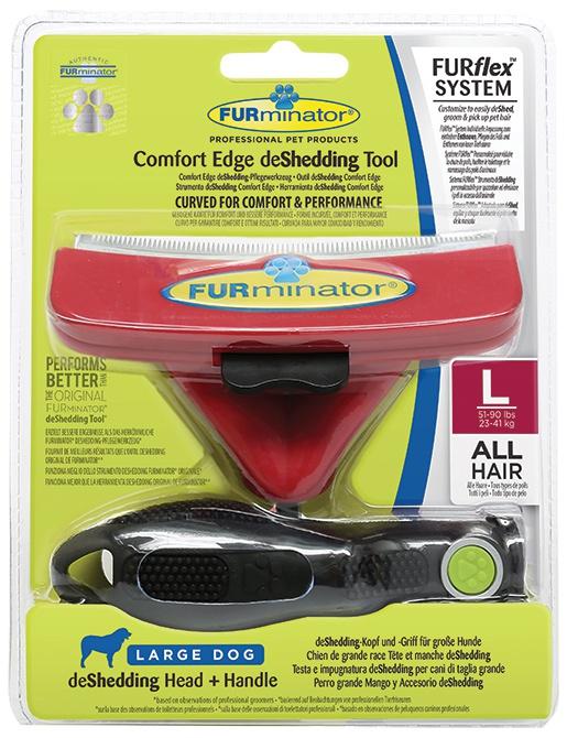 Расческа для собак - FURminator FUR flex, L