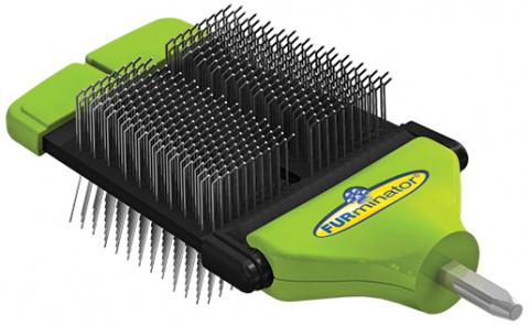 Расческа для собак - FURminator FUR flex dual slicker brush title=