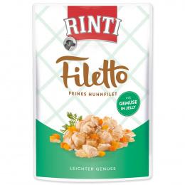 Konservi suņiem - Rinti Filetto in Jelly, vistas fileja ar dārzeņiem, 100 g