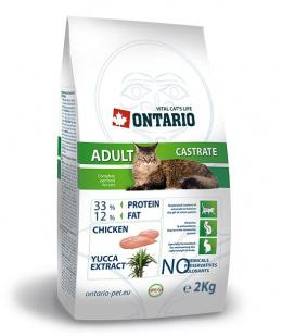 Barība kaķiem - Ontario Castrate, 2 kg