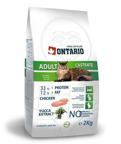 Корм для кошек - Ontario Castrate, 2 кг