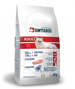 Barība kaķiem - Ontario Adult ar vistas gaļu, 2kg