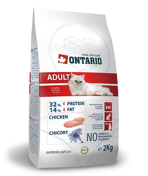 Корм для кошек - Ontario Adult, с курицей, 2 кг