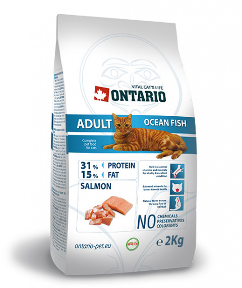 Barība kaķiem - Ontario Adult Ocean Fish, 2 kg title=