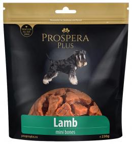 Gardums suņiem - Prospera plus Lamb mini bones /jēra gaļas kauliņi, 230 g
