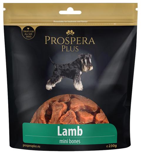 Gardums suņiem - Prospera plus Lamb mini bones /jēra gaļas kauliņi, 230 gr