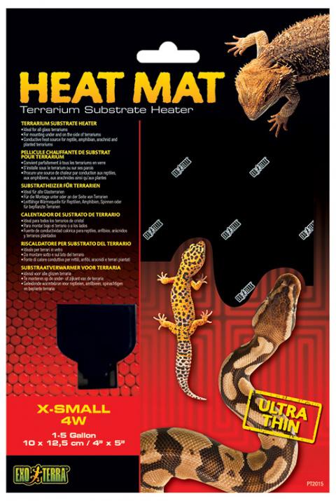 Аксессуар для терариума - ExoTerra Heat Wave Mat 4W, extra small / Тепловой коврик с терморегулятором
