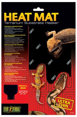 Аксессуар для терариума  -  ExoTerra Heat Wave Mat 8W, small / Тепловой коврик с терморегулятором