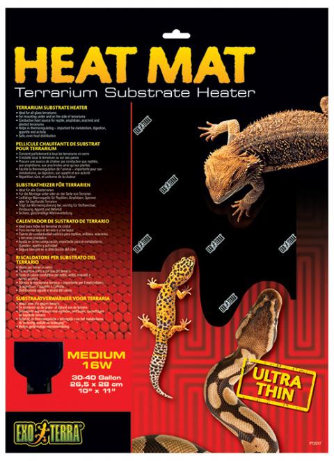 Аксессуар для терариума - ExoTerra Heat Wave Mat 16W, medium/ Тепловой коврик с терморегулятором