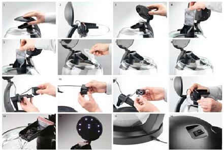 Akvārijs - Tetra Cascade LED, 6.8 l, krāsa - melna
