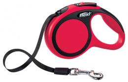 Inerces pavada suņiem - Flexi New Comfort Tape Leashes XS 3 m, krāsa - sarkana