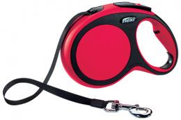 Инерционный поводок для собак - Flexi New Comfort Tape Leashes L 8 m, цвет - красный