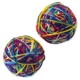 Rotaļlieta kaķiem - Magic Cat Colorful ball / dzijas kamoliņš, 6.5cm