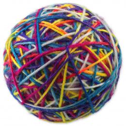 Игрушка для кошек -  Magic Cat Colorful ball /комок пряжи, 9.5 см