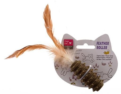 Игрушка для котов - Magic Cat Catnip Dental Roller with Feathers, 7 см