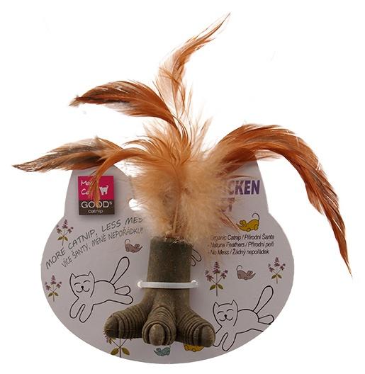 Игрушка для котов - Magic Cat Catnip Chicken Claw with Feathers, 5 см