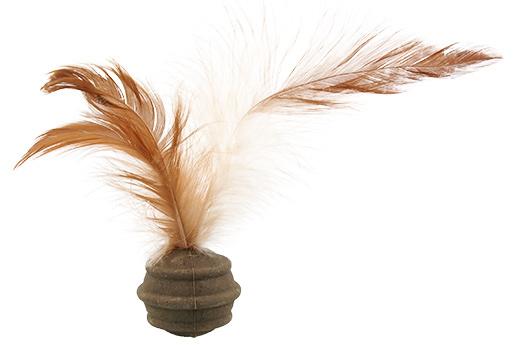 Rotaļlieta kaķiem - Magic Cat Catnip Ball with 3 Feathers, 3.5 cm