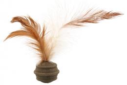 Rotaļlieta kaķiem - Magic Cat Catnip Ball with 3 Feathers, 3.5cm