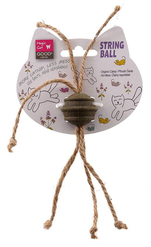 Rotaļlieta kaķiem - Magic Cat Catnip Ball with Cords, 3.5 cm