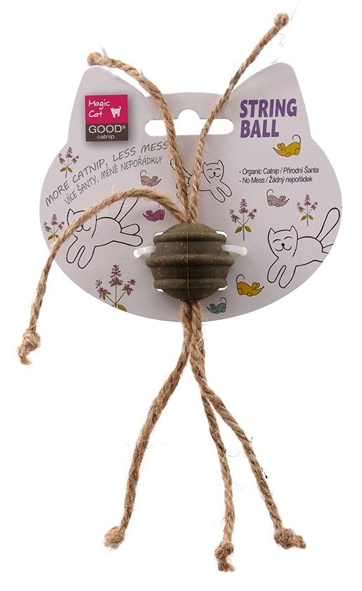 Rotaļlieta kaķiem - Magic Cat Catnip Ball with Cords, 3.5cm