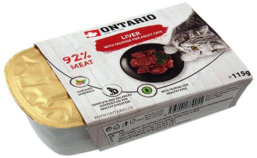 Консервы для кошек - Ontario Alucup Liver, 115g