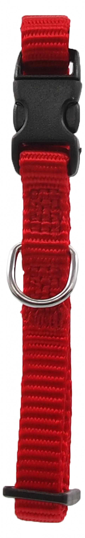 Kakla siksna - Dog Fantasy Classic Neilona XS, 1 cm, 21-30 cm, krāsa – sarkanā