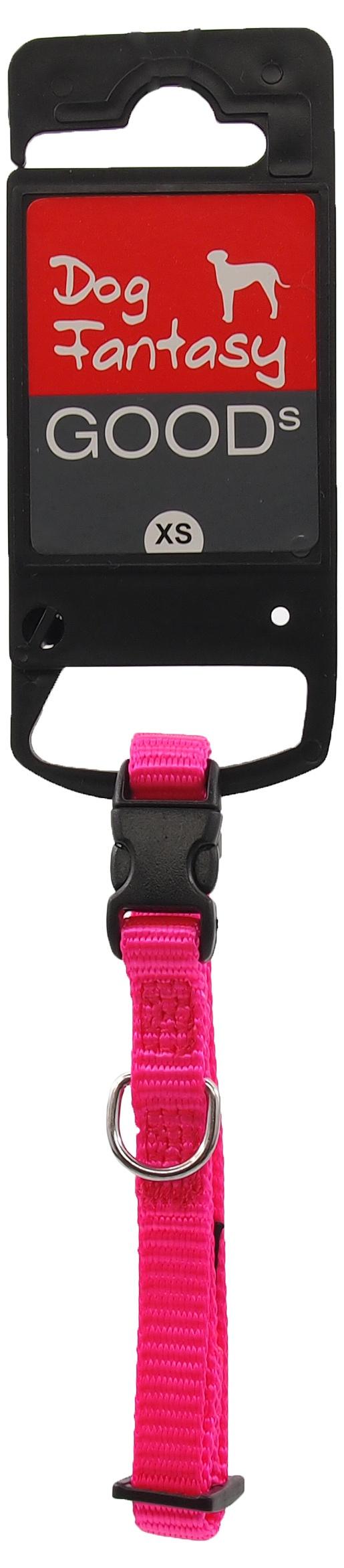 Kakla siksna - Dog Fantasy Classic Neilona XS, 1 cm, 21-30 cm, krāsa – rozā