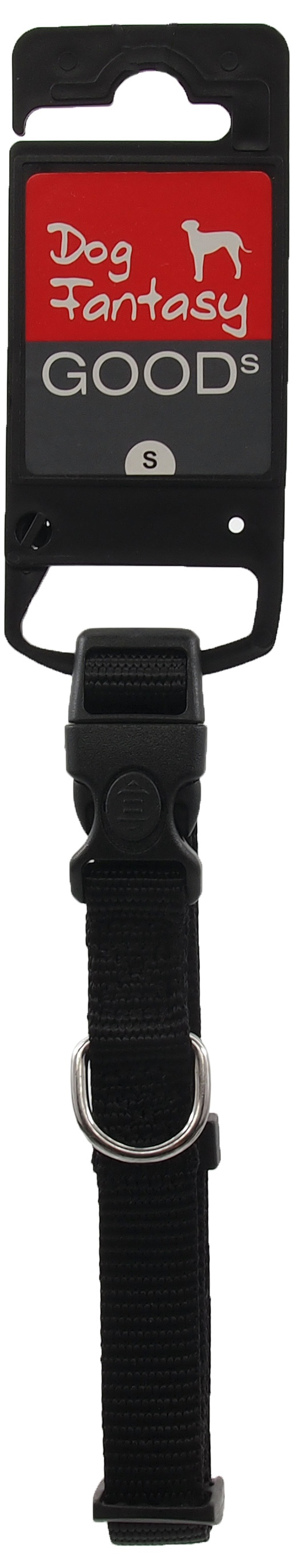 Kakla siksna - Dog Fantasy Classic Neilona S, 1.5cm, 27-37cm, krāsa - melna