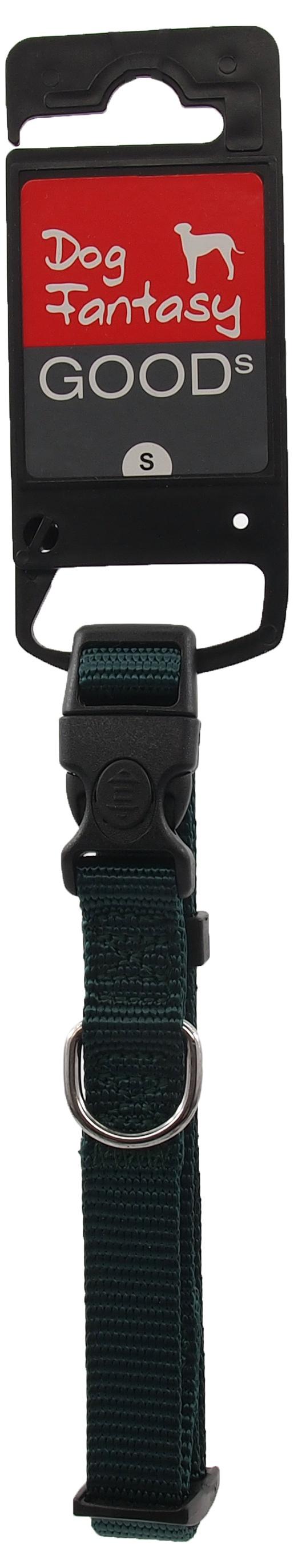 Kakla siksna - Dog Fantasy Classic Neilona S, 1.5 cm, 27-37 cm, krāsa – zaļā