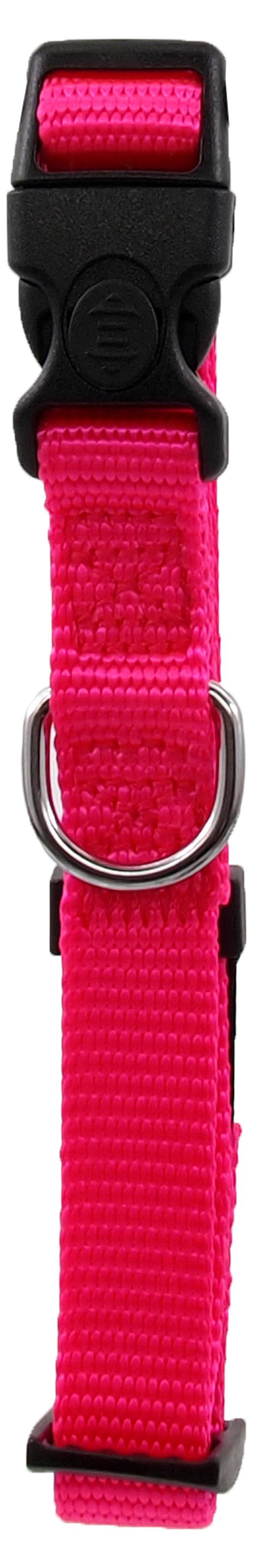 Kakla siksna - Dog Fantasy Classic Neilona S, 1.5cm, 27-37cm, krāsa – rozā