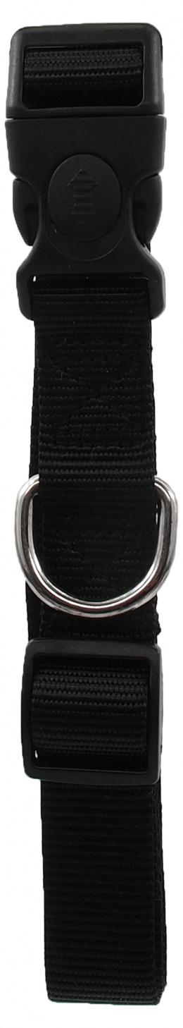 Kakla siksna - Dog Fantasy Classic Neilona L, 2.5cm, 45-68cm, krāsa - melna