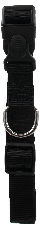 Kakla siksna - Dog Fantasy Neilona L, 2.5cm, 45-68cm, krāsa - melna title=
