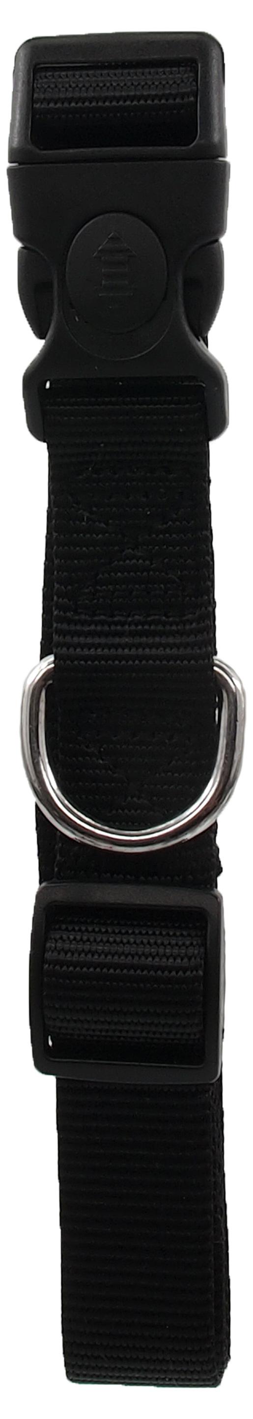 Ошейник - Dog Fantasy Неилон L, 2.5cm, 45-68cm, цвет - черный