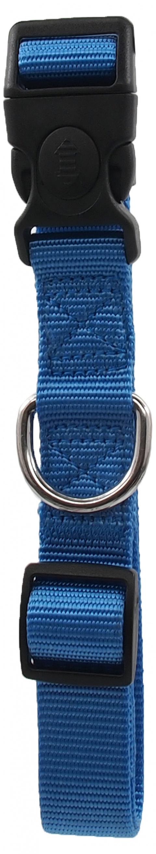 Kakla siksna - Dog Fantasy Classic Neilona L, 2.5cm, 45-68cm, krāsa - zilā title=