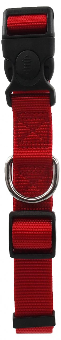 Kakla siksna - Dog Fantasy Classic Neilona L, 2.5cm, 45-68cm, krāsa - sarkanā