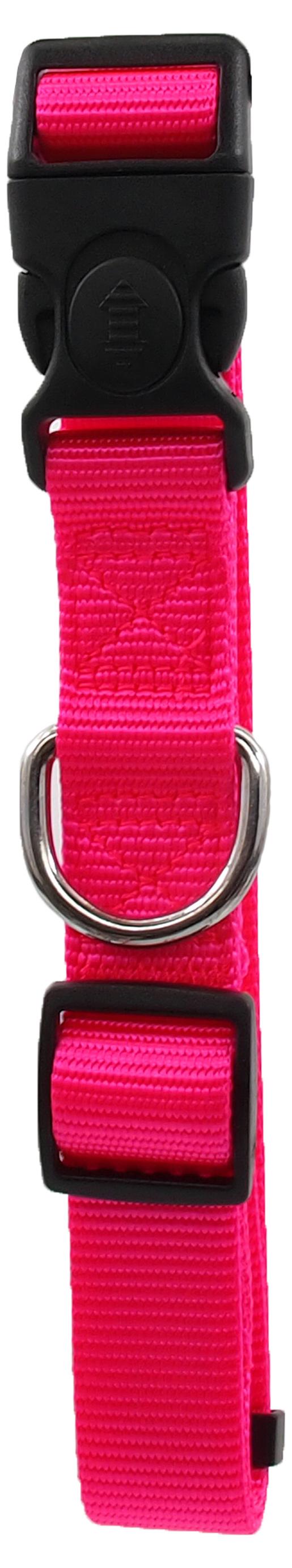 Kakla siksna - Dog Fantasy Classic Neilona L, 2.5cm, 45-68cm, krāsa - rozā