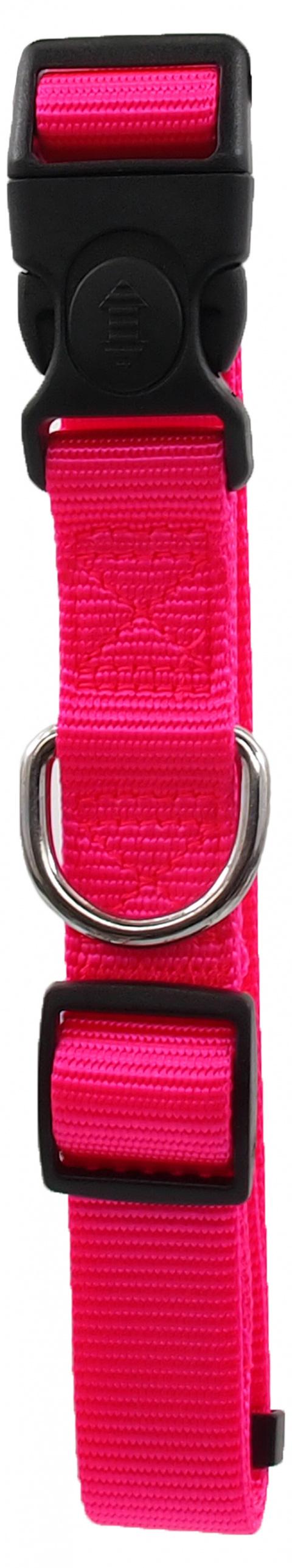 Ошейник - Dog Fantasy Classic Неилон L, 2.5cm, 45-68cm, цвет - розовый title=