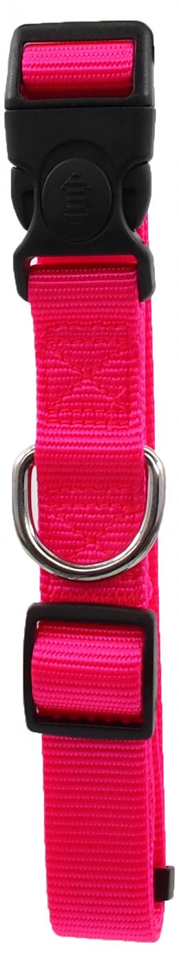 Ошейник - Dog Fantasy Classic Неилон L, 2.5cm, 45-68cm, цвет - розовый