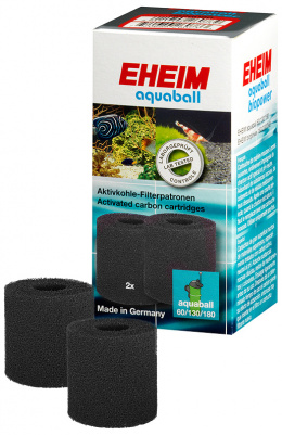 Filtru materiāls - EHEIM carbon cartridge for aquaball 130/180, 2 pcs