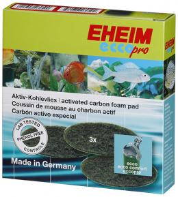 Материал для фильтра - EHEIM active carbon fine filter pad for ecco pro 130/200/300, 3 pcs