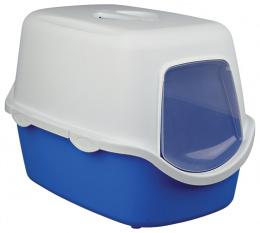Туалет для кошек - Vico 40*40*56 синий/кремовый