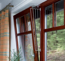 Aizsargreste Trixie, logu sānu daļai, 62x16x8 cm, krāsa - balta