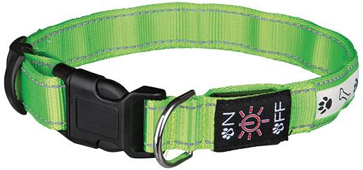 Atstarojošā kakla siksna suņiem - Flash Illuminous Collar USB, M-L, 40-50cm/25mm, zaļa