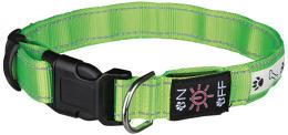 Отражающий ошейник для собак - Flash Illuminous Collar USB, M-L, 40-50cm/25mm, зеленый