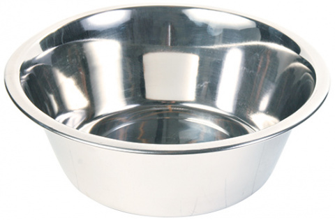 Миска для собак - Trixie cтальная миска, 2,8 l/24 cm