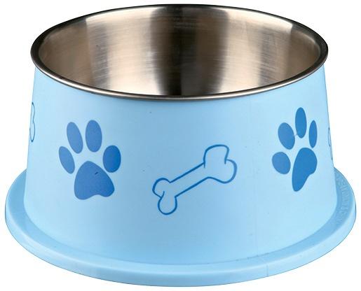 Bļoda suņiem – Long-ear Bowl, Stainless Steel, Plastic Coated, 0,9 l/19 cm