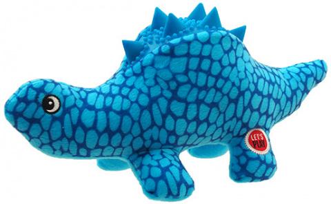 Игрушка для собак - Let's Play динозавр, голубой, 25 см