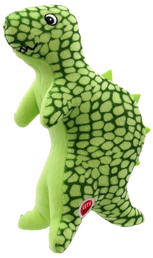 Rotaļlieta suņiem - Let's Play dinozaurs, zaļš, 25cm